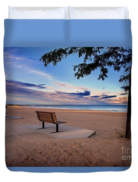 Duvet Cover featuring the photograph Summers Over by Randall  Cogle