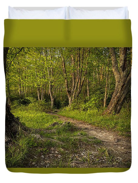 Price Lake Trail - Blue Ridge Parkway Duvet Cover