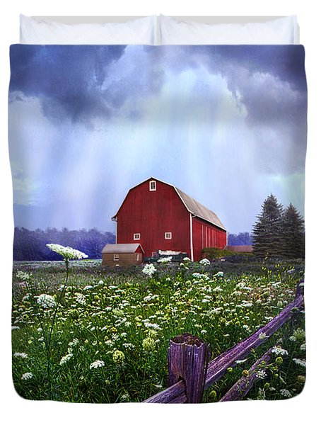Summer's Shower Duvet Cover by Phil Koch