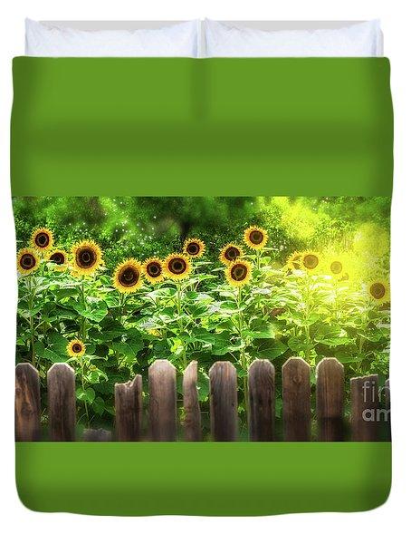 Summer's Sunflowers Duvet Cover