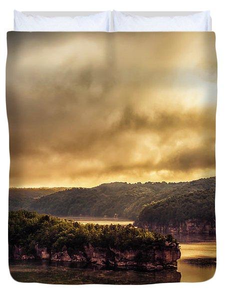 Summersville Lake At Daybreak Duvet Cover