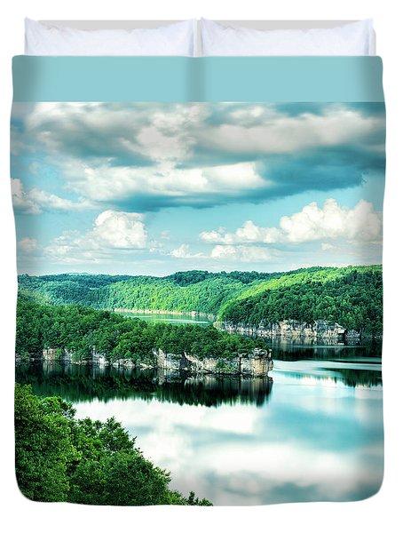 Summertime At Long Point Duvet Cover
