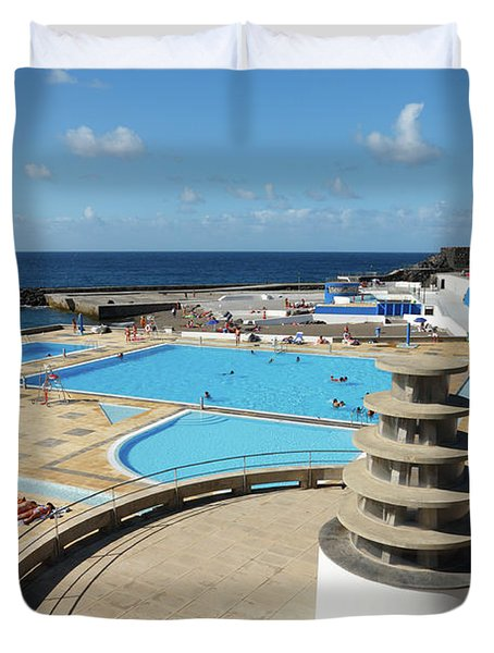 Summertime At Ribeira Grande Duvet Cover by Gaspar Avila