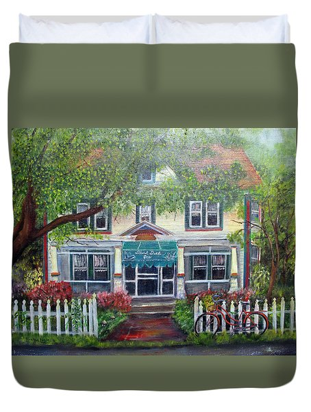 Summertime At The Black Duck Inn Duvet Cover