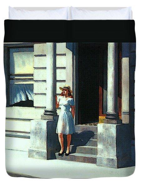 Summertime  Duvet Cover by Edward Hopper