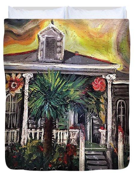 Summertime New Orleans Duvet Cover