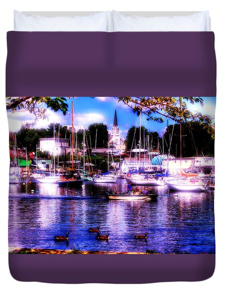 Summertime On The Harbor II Duvet Cover by Aurelio Zucco