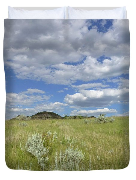 Summertime On The Prairie Duvet Cover