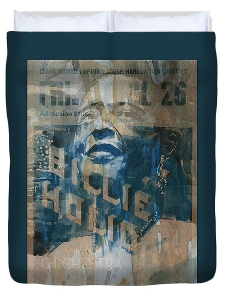 Duvet Cover featuring the painting Summertime by Paul Lovering
