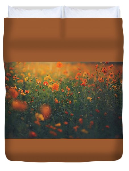 Duvet Cover featuring the photograph Summertime by Shane Holsclaw