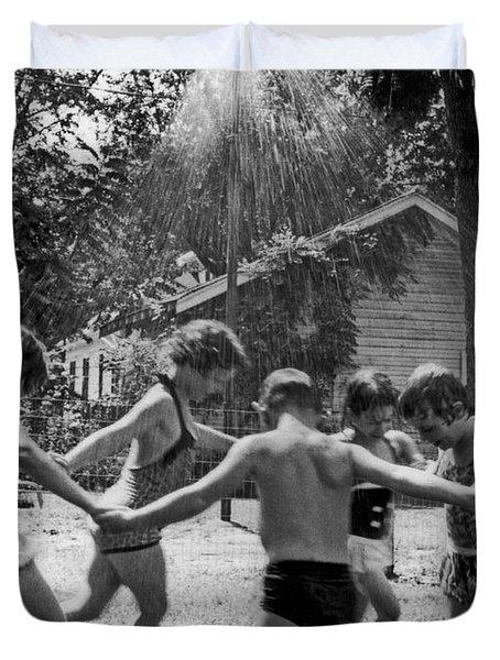 Summertime Showers Duvet Cover