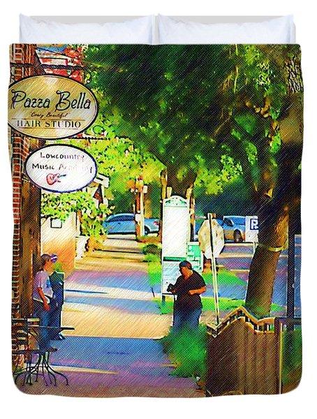 Summerville Sc Duvet Cover by Donna Bentley
