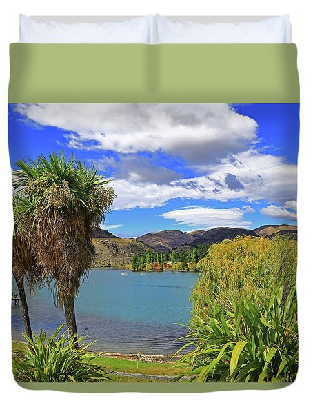 Duvet Cover featuring the photograph Summery Scene At Old Cromwell by Nareeta Martin