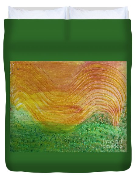 Sun And Grass In Harmony Duvet Cover
