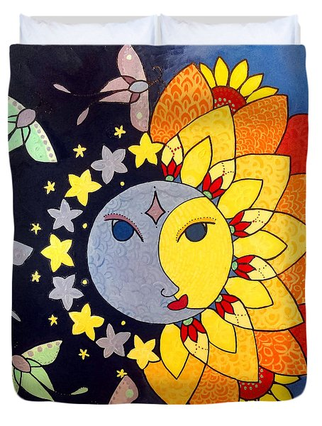 Sun And Moon Duvet Cover