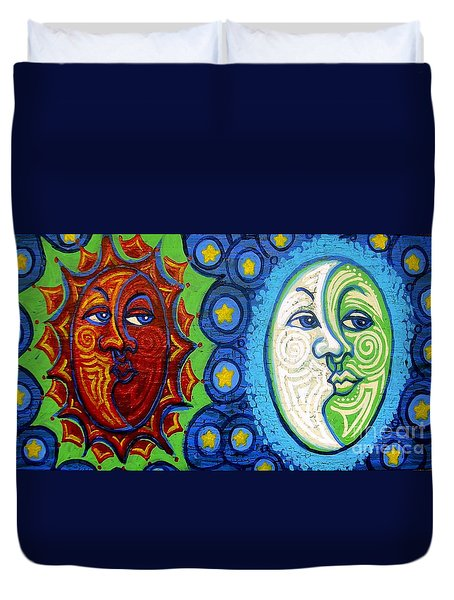 Sun And Moon Duvet Cover by Genevieve Esson