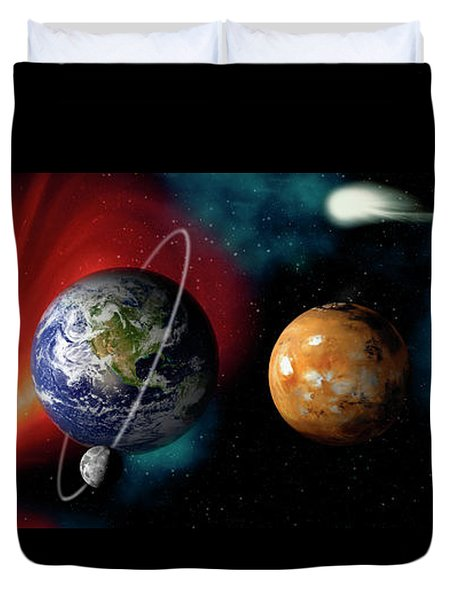 Sun And Planets Duvet Cover