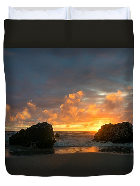 Sun And Rocks Duvet Cover by Martin Capek