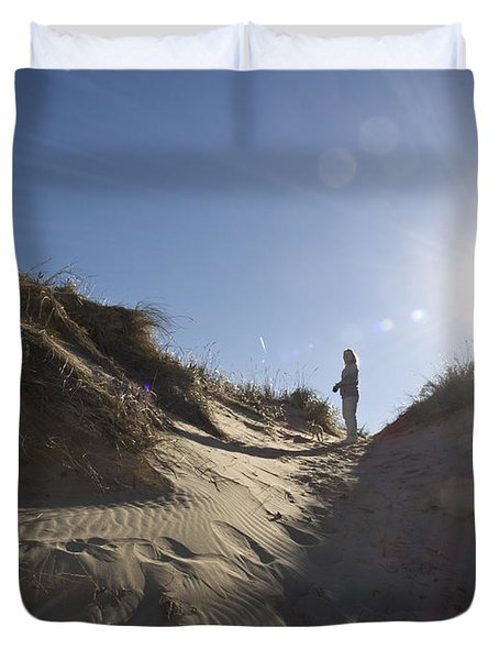 Duvet Cover featuring the photograph Sun And Sand  by Tara Lynn