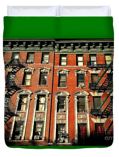 Sun And Shadow - The Rhythm Of New York Duvet Cover by Miriam Danar