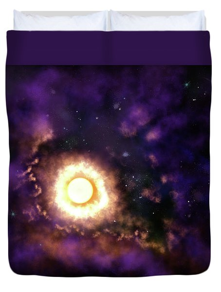 Sun And Space Duvet Cover