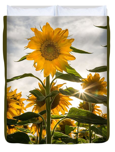 Sun And Sunflowers Duvet Cover