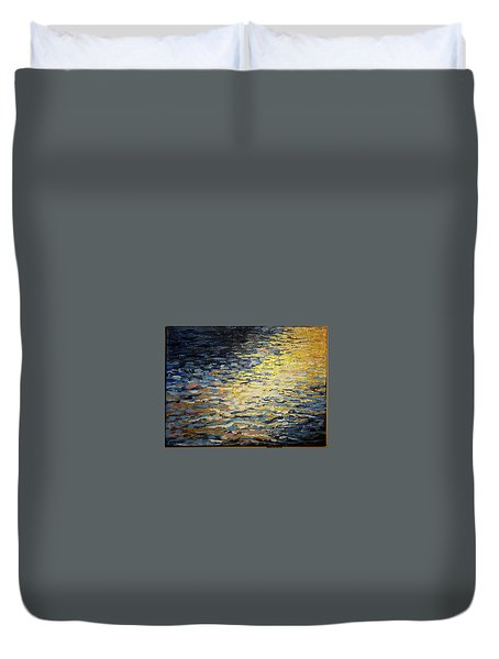 Sun And Wind On Water Duvet Cover