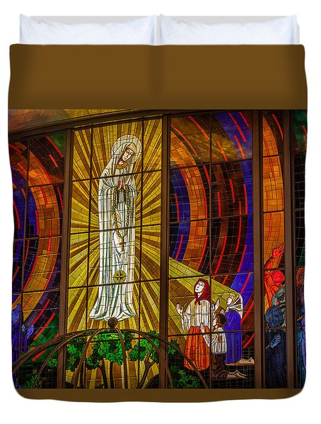Sun At Fatima Duvet Cover