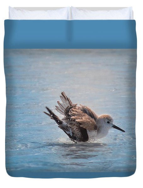 Sun Bathing Bird Style Duvet Cover