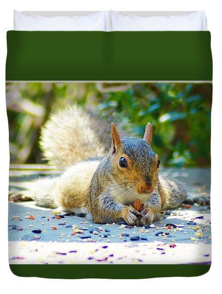 Sun Bathing Squirrel Duvet Cover