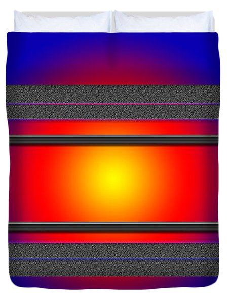 Sun Behind It Duvet Cover by Tina M Wenger