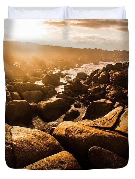 Sun Bleached Australia Beach Duvet Cover