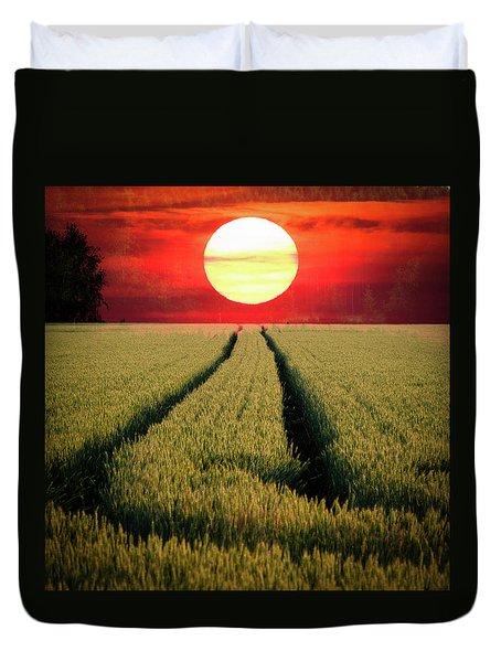 Sun Burn Duvet Cover