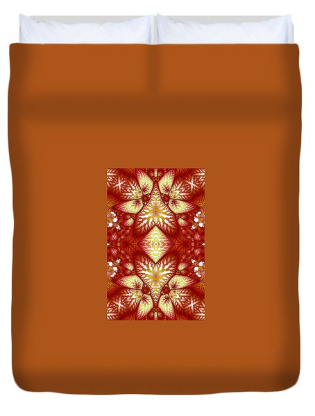 Sun Burnt Orange Fractal Phone Case Duvet Cover