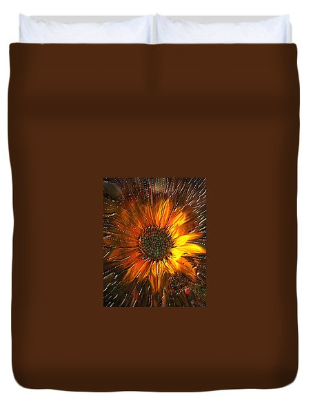 Duvet Cover featuring the painting Sun Burst by Kevin Caudill