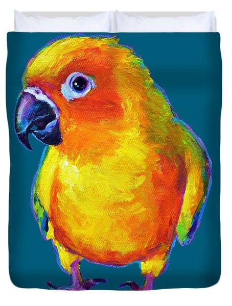 Sun Conure Parrot Duvet Cover