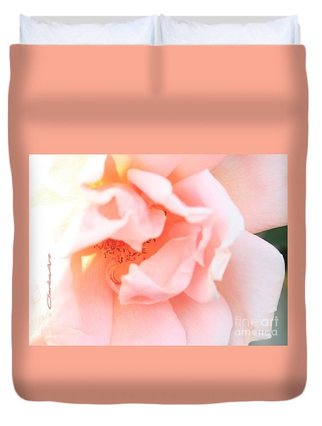 Sun-drenched Rose Duvet Cover