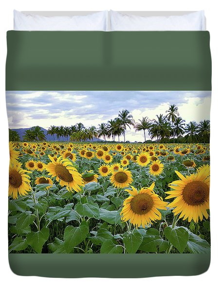 Sun Fields Duvet Cover