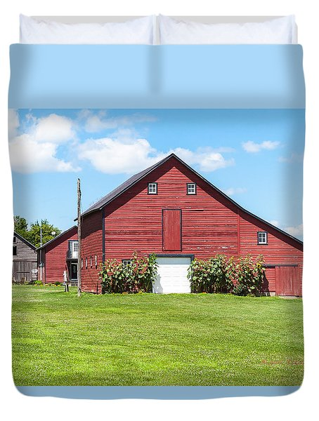 Sun Flower Barn Duvet Cover by Edward Peterson