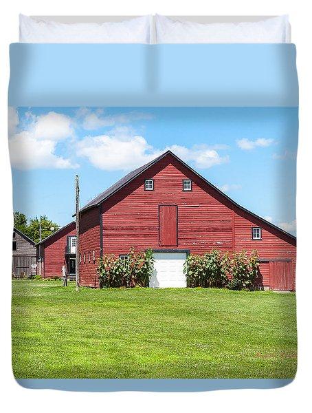 Sun Flower Barn Duvet Cover