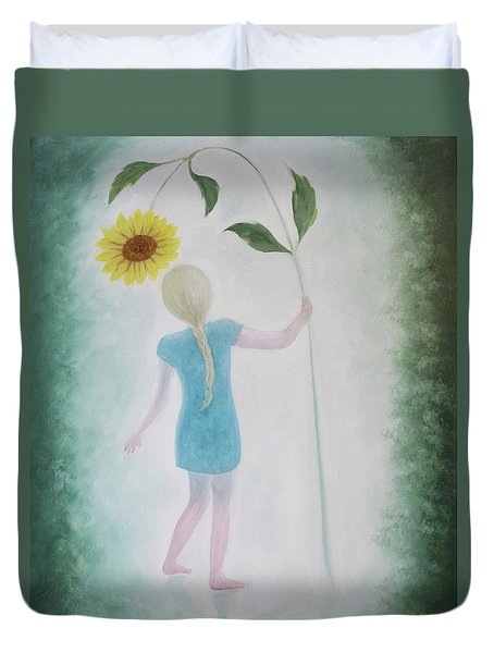 Sun Flower Dance Duvet Cover by Tone Aanderaa