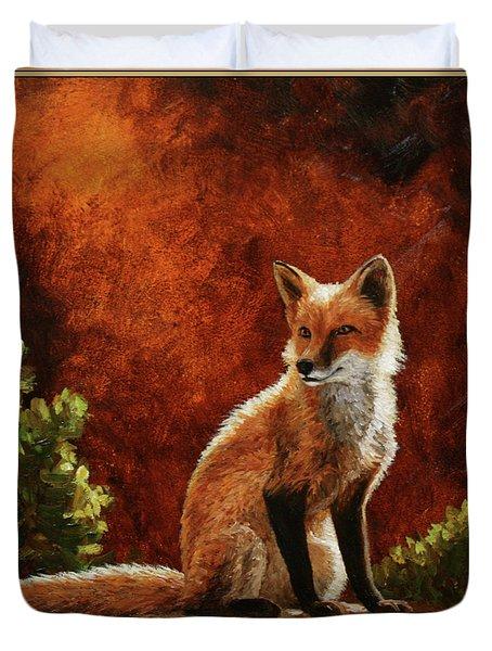 Sun Fox Duvet Cover