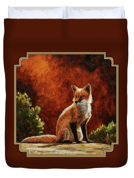 Sun Fox Duvet Cover by Crista Forest