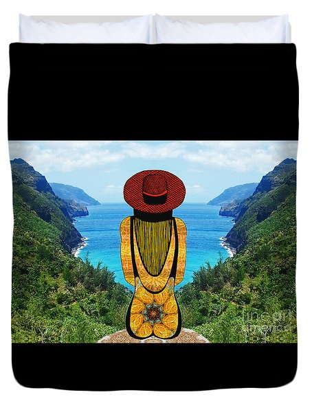 Duvet Cover featuring the photograph Sun Girl In Kauai by Joseph J Stevens