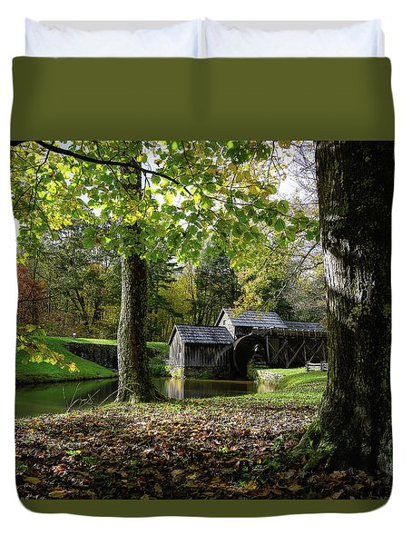 Sun Going Down At The Mill Duvet Cover