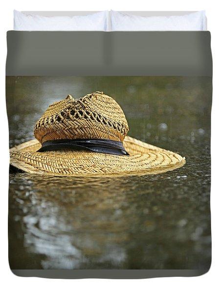 Sun Hat In The Rain Duvet Cover
