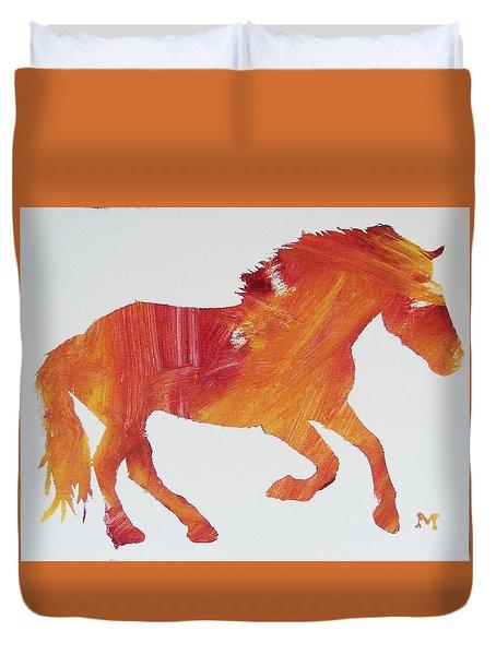 Sun Horse Duvet Cover