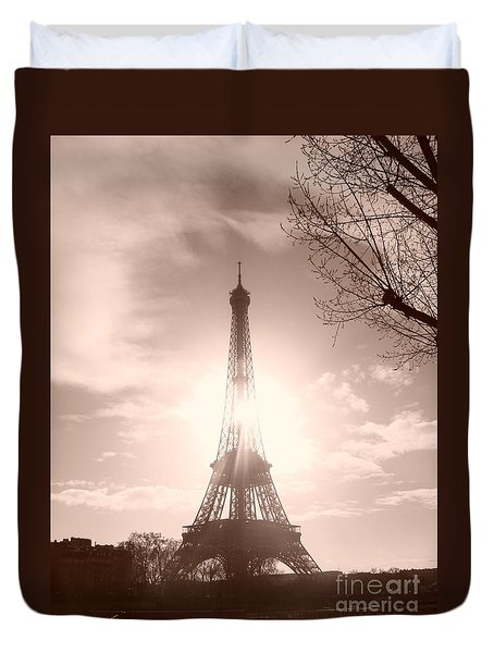 Sun In Paris Duvet Cover