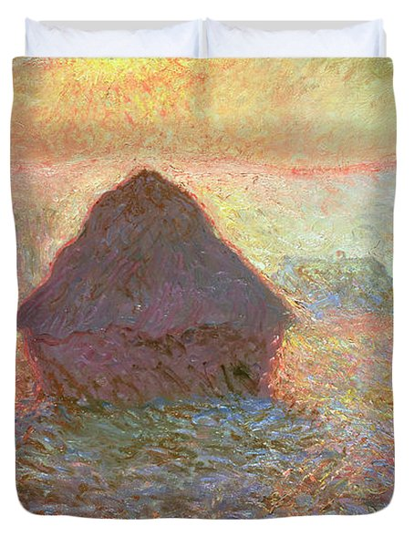 Sun In The Mist Duvet Cover by Claude Monet