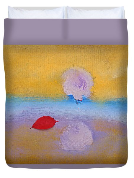 Duvet Cover featuring the painting Sun Kissed by Charles Stuart
